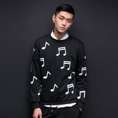 T for TOP - Long-Sleeve Note Printed Top