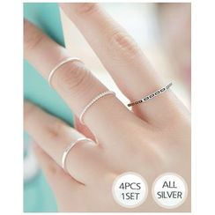 Miss21 Korea - Set of 4: Silver Ring