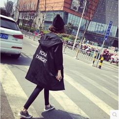 Her Story - Lettering Hooded Parka