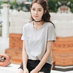 Sienne - Plain Short-Sleeve Top