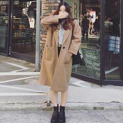 Bloombloom - Plain Knit Coat