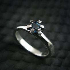 Sterlingworth - London Blue Topaz Sterling Silver Ring