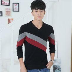 SOLER - Colour Block Long-Sleeve Sweatshirt