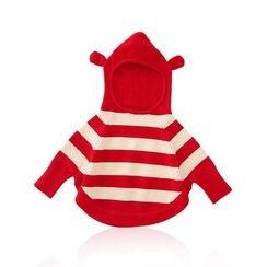 JIMIJIMI - 嬰兒條紋針織連帽衫