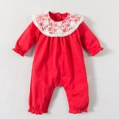 MOM Kiss - Baby Lace Collar One-Piece