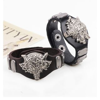 KINNO - Genuine Leather Wolf Bracelet