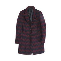 Chuoku - Chevron Single-Breasted Coat
