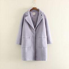 三木社 - 纯色长款大衣