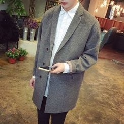 qiaqiayes - Woolen Long Coat