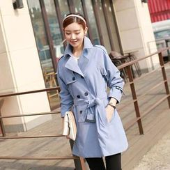 CLICK - Raglan-Sleeve Trench Coat