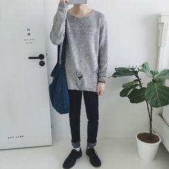 JUN.LEE - Distressed Knit Sweater