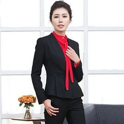 Aision - Blazer / Tie-Neck Blouse / Dress Pants