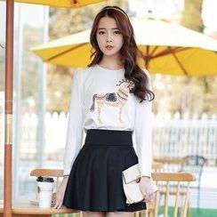 Hanee - Set: Printed Top + Skirt