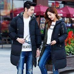 Rosehedge - Couple Matching Hooded Long Padded Coat