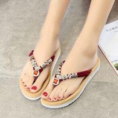 YIVIS - Embellished Flip Flops