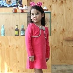 TWINSBILLY - Girls Beribboned Cotton Dress