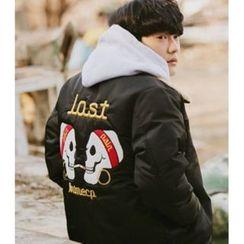 ABOKI - Fleeced-Line Collar Zip Jacket