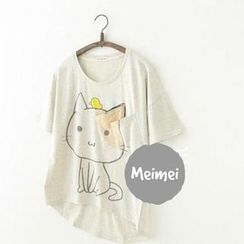 Meimei - Cat Print T-Shirt