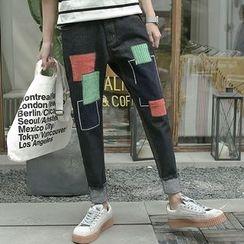 qiaqiayes - Applique  Harem Jeans