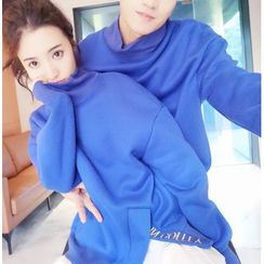 Bay Go Mall - Couple Matching Turtleneck Pullover