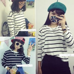 QZ Lady - Striped Long-Sleeved T-Shirt