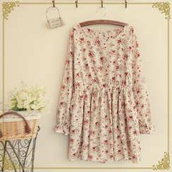 Fairyland - Long-Sleeved Print Dress