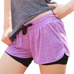 YUBE - Mock Two Piece Sport Shorts