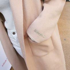 DABAGIRL - Notched-Lapel Wool Blend Coat