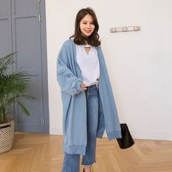 PPGIRL - Open-Front Long Cardigan