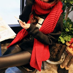 Digesida - Ribbed Knit Scarf