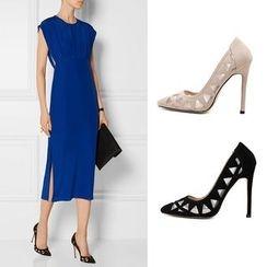 Monde - 网纱尖头高跟鞋