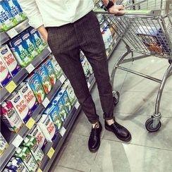 ZZP HOMME - Plaid Slim Fit Pants