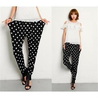 FASHION DIVA - Polka-Dot Harem Pants