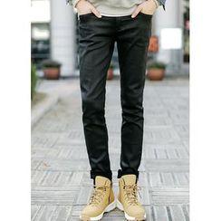 JOGUNSHOP - Coated Slim-Fit Pants