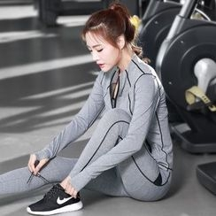 RITMO - Set: Sports Zip Jacket + Sports Bra + Yoga Pants