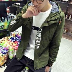 RIVOLO - Hooded Lettering Jacket