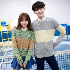 TOOI - Couple Matching Cable Knit Sweater