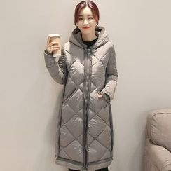 Mamaladies - Maternity Hooded Padded Coat