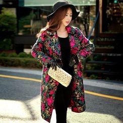 Dabuwawa - Floral Buttoned Coat