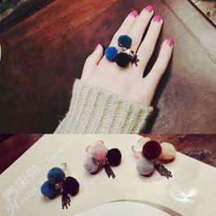 嘀咕家 - 毛毛球戒指