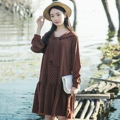 Sens Collection - Dotted Long Sleeve Chiffon Dress