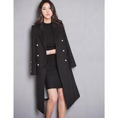 GUMZZI - Wool Blend Double-Breasted Coat