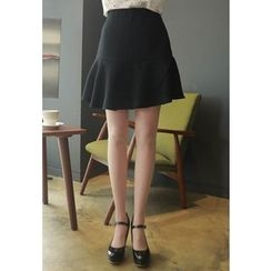 MyFiona - Ruffle-Hem Mini Skirt