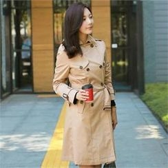 St. Mary - Double-Breasted Trench Coat with Sash