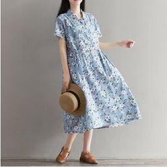 MayFair - Floral Print Midi Shirtdress