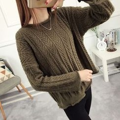 anzoveve - Patterned Knit Sweater