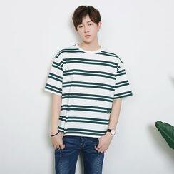 蔡先生 - 短袖条纹T恤