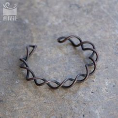 Zeno - Helical Wire Work Open Bangle