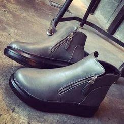 QQ Trend - 厚底踝靴