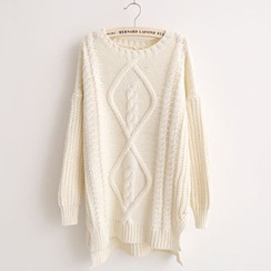 FR - Cable Knit Tunic Sweater